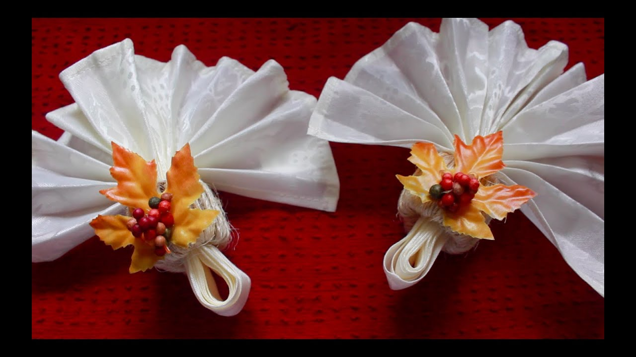 Diy Fall Leaves Napkin Rings Youtube