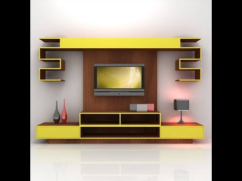 Led Tv Cabinet Design Living Room Wall