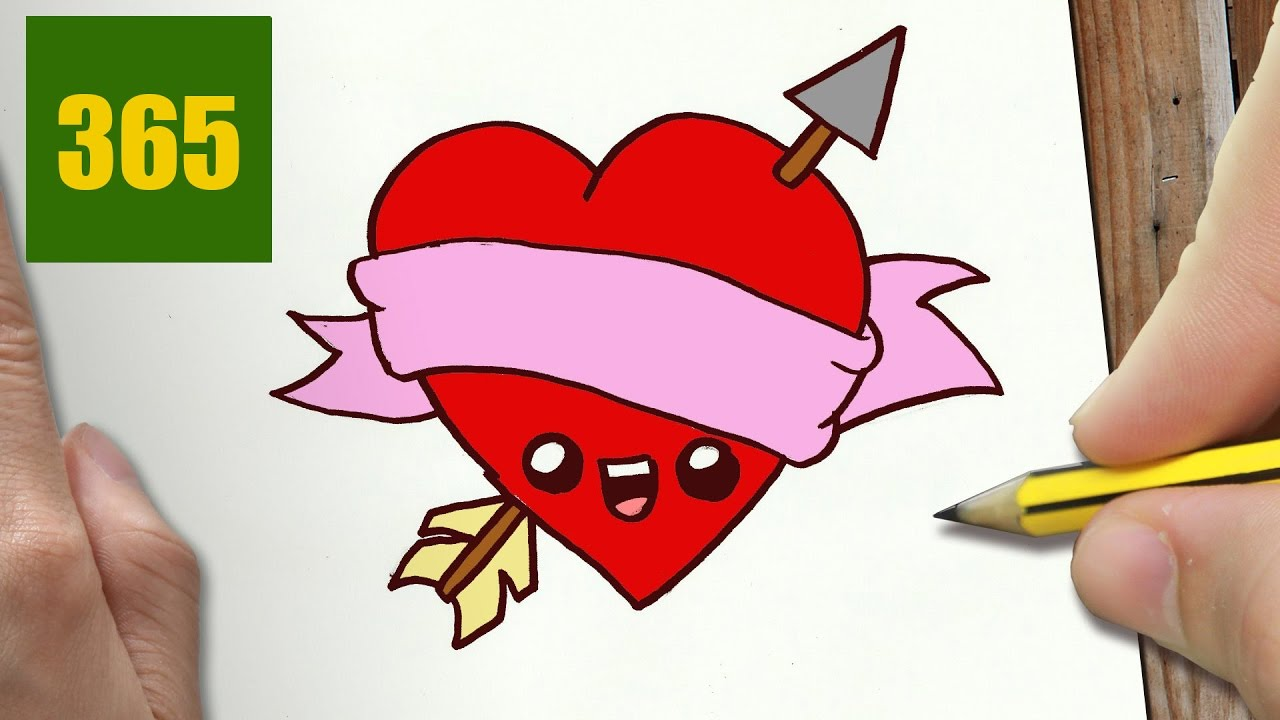 Comment dessiner coeur d amour kawaii tape par tape dessins kawaii facile youtube - Dessins a dessiner facile ...
