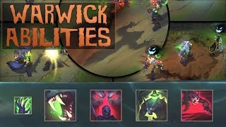 WARWICK REWORK ABILITIES SPOTLIGHT GAMEPLAY - League of Legends