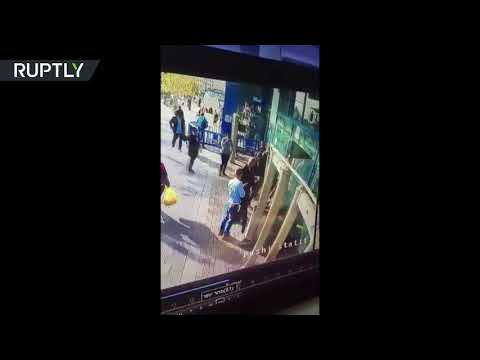 GRAPHIC VIDEO: Palestinian stabs Israeli security guard at Jerusalem's Central Bus Station