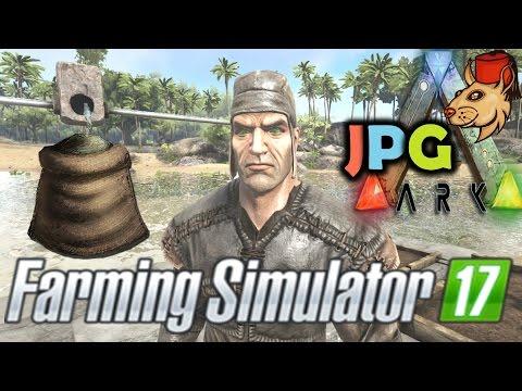 ARK Survival Evolved PS4 Let's Play #6 Farming Simulator / Kibble Prep Crop Plots