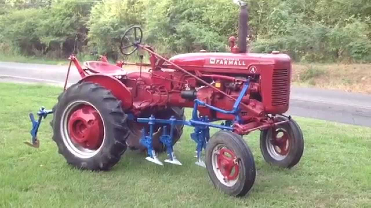 1953 Farmall Super A Tractor with Cultivators YouTube