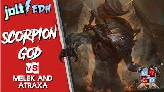 jolt commander the scorpion god vs melek and atraxa