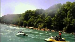 jetski jumping devils hole in the whirlpool rapids lower niagara river.AVI