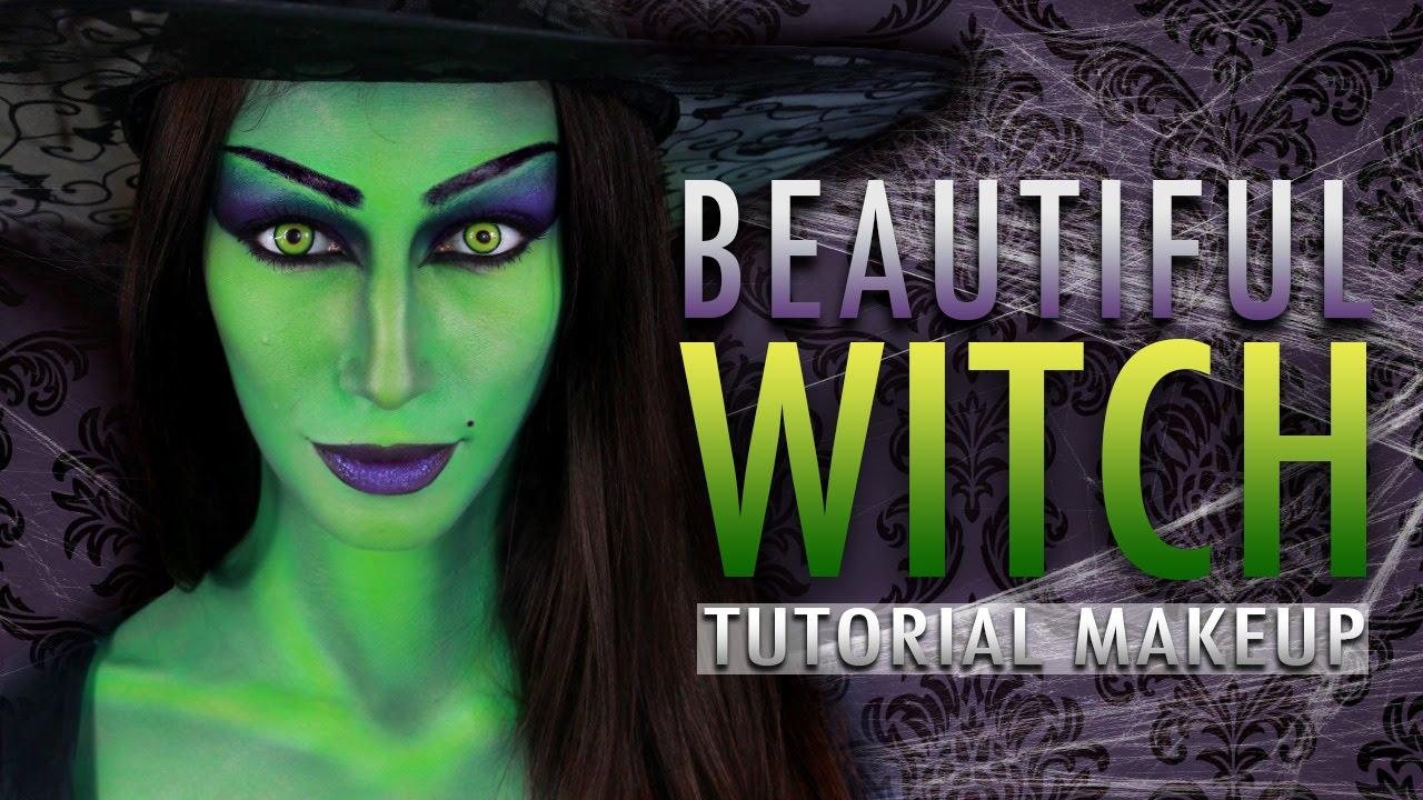 Beautiful witch halloween makeup tutorial youtube baditri Images
