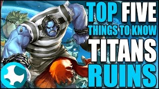 Top Five Things You Should Know Before Playing Titans Ruins (Master X Master)