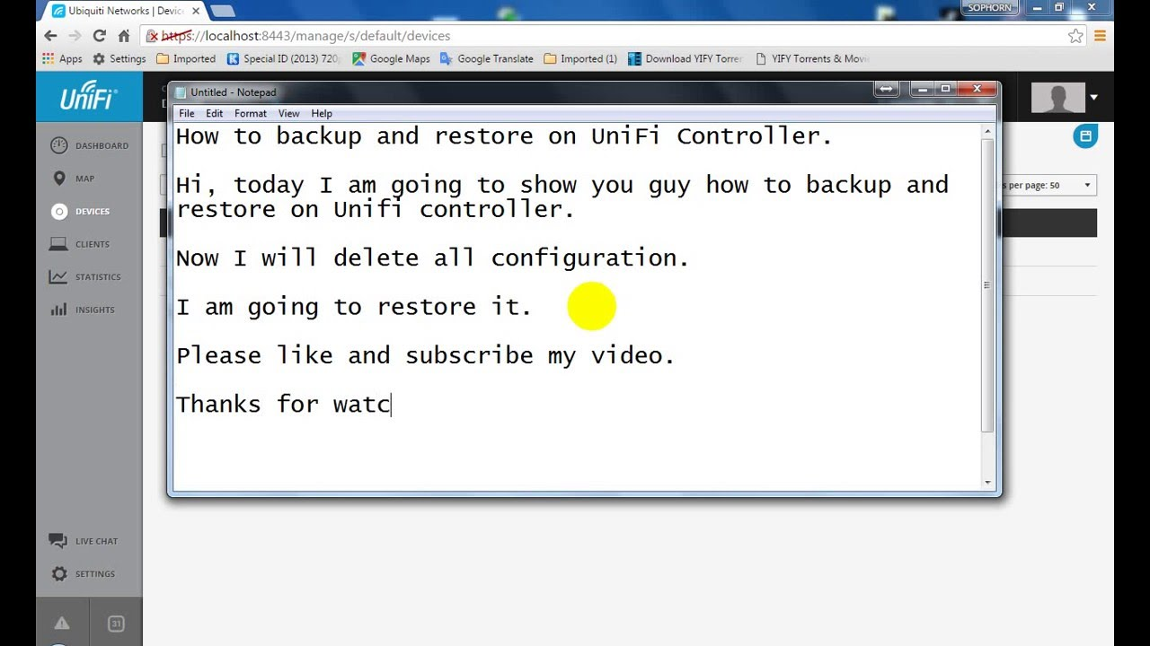How to backup and restore on UniFi Controller