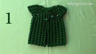 hướng dẫn móc áo cho bé crochet baby sweater tutorial 1 2