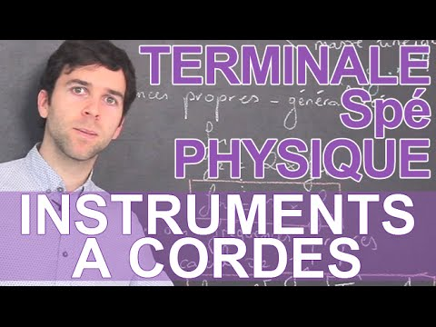 Instruments à cordes - Spé Physique-Chimie - Terminale - Les Bons Profs