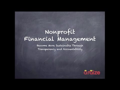 Nonprofit Accounting | Nonprofit Financial Management | Webinar