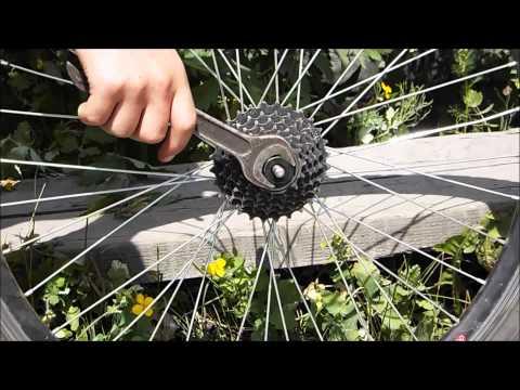 Как быстро снять звёздочки с заднего колеса велосипеда.