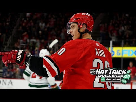 Aho dazzles with 3rd career hat trick