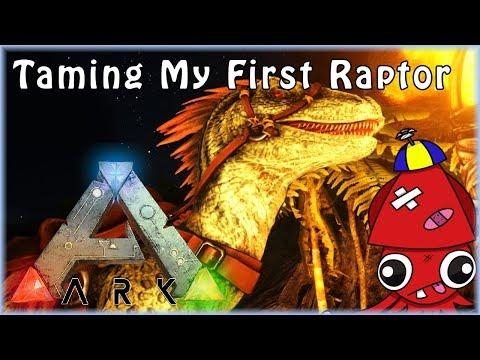 I TAMED A RAPTOR!!! | Ark: Survival Evolved
