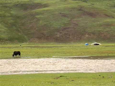 Grasslands, Tibetan area, Sichuan, by bicycle