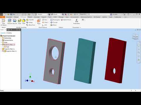Video Tip: Inventor – Projecting Geometry in an Assembly