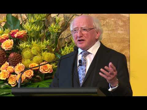 Michael D. Higgins, President of Ireland, delivers Keynote Address at UNSW Sydney.