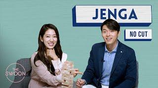 Park Shin hye and Hyun Bin Play Jenga No Cut ENG SUB CC