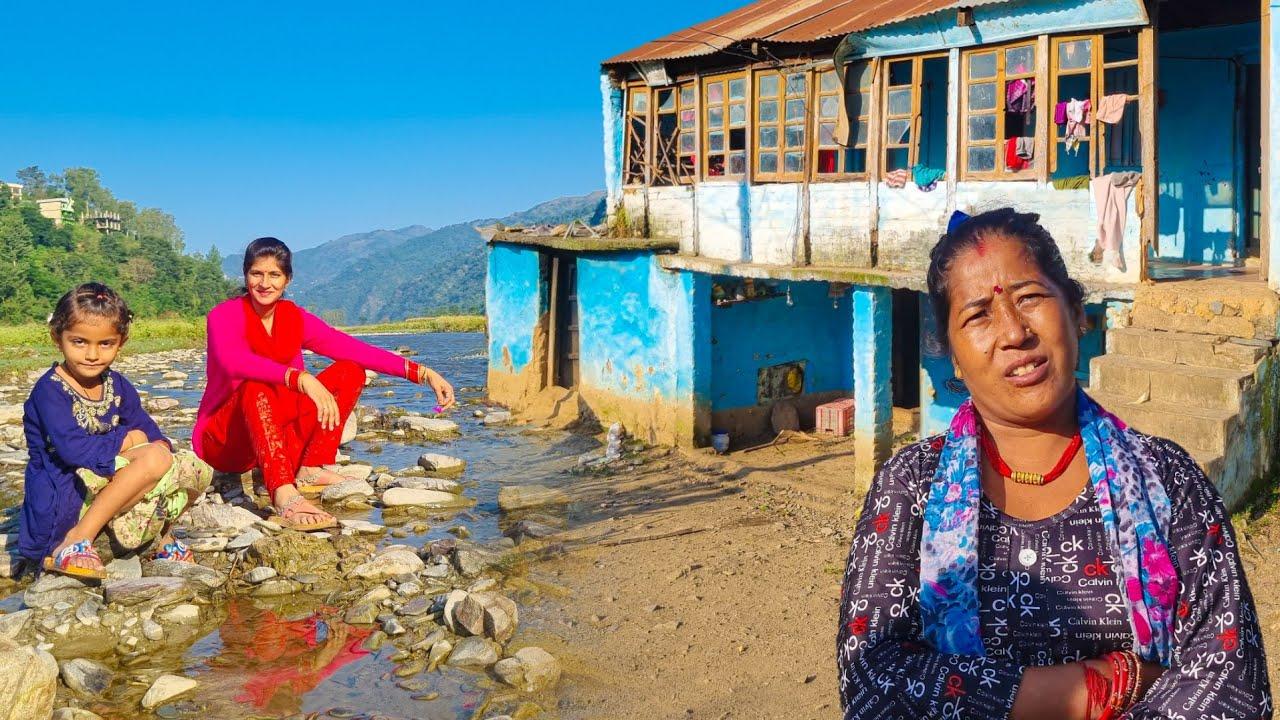 Hp-90 ❤️ नदी किनारे हिमाचली गाँव ?  || Himachal Village People Culture Solan shimla Travel blog