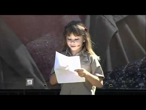 Bindi Irwin's Speech at Steve Irwin's Memoral Service