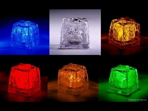 liquid active led ice cube colors changing led night light ice cube