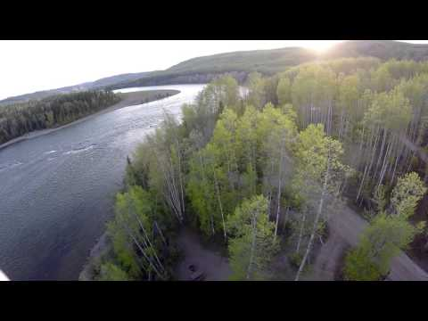 My Home Town by Drone  -  Hudsons Hope BC Canada
