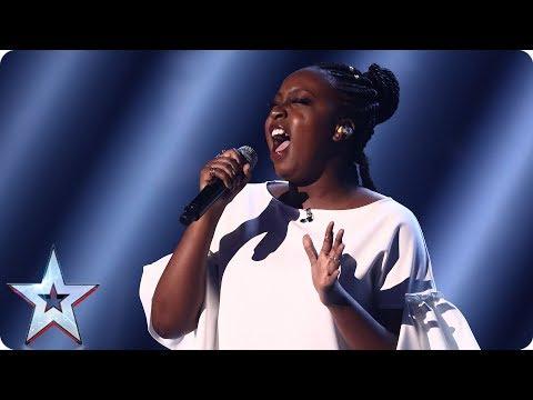 Sarah Ikumu reigns supreme with Prince's Purple Rain   Semi-Final 3   Britain's Got Talent 2017