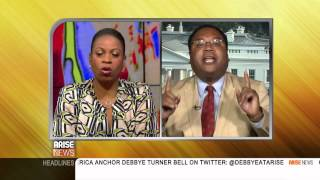LEFT, RIGHT, AND MIDDLE WITH KAREN HUNTER AND HORACE COOPER 07/31/14