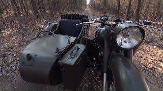 Radziecki motocykl produkowany na potrzeby wojska! #Legendy_PRL