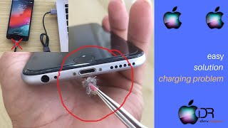 how to clean any iphone charging port.new easy solution