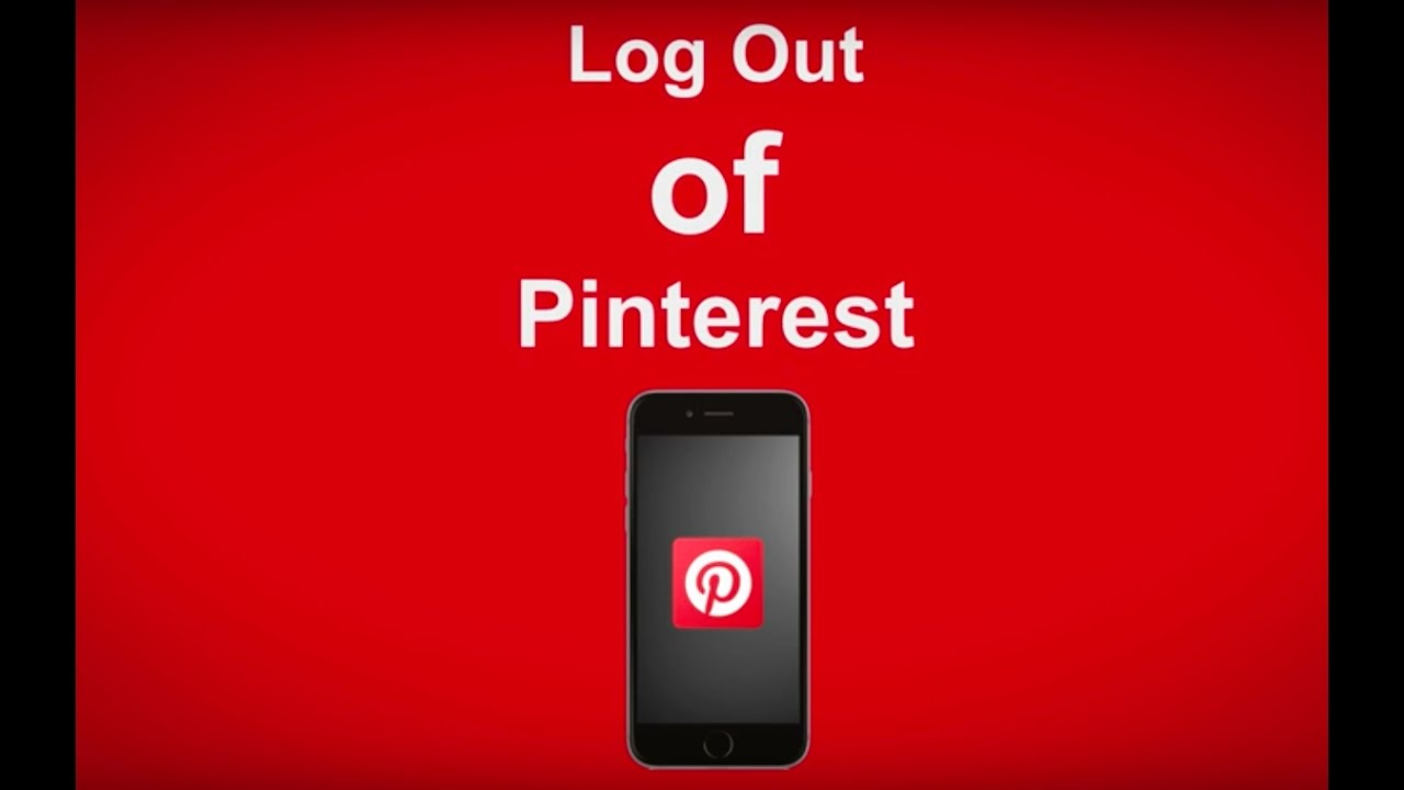 How To Log Out Of Pinterest - YouTube
