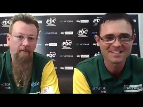 """Australia's Simon Whitlock and Damon Heta: """"This is a pairs event, why are we even playing singles?"""""""