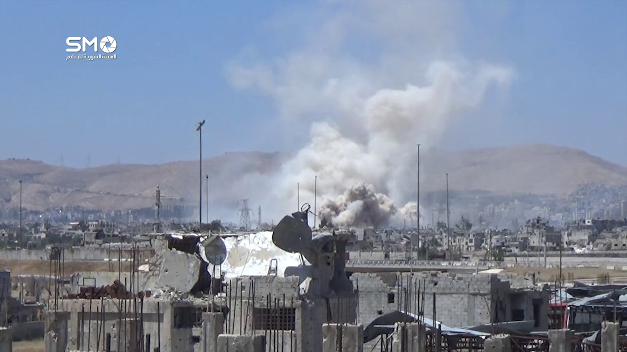 Syrian government forces targeting Qabun district of Damascus