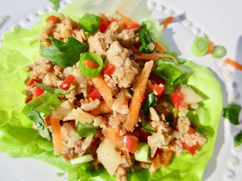 TURKEY LETTUCE WRAPS   LOW FAT FOOD   Simple To Make Recipe