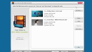 Let's have a look at Free Video to MP3 WMA Converter