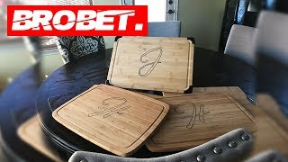 Personalized Cutting Board Timelapse - Wood Burning!