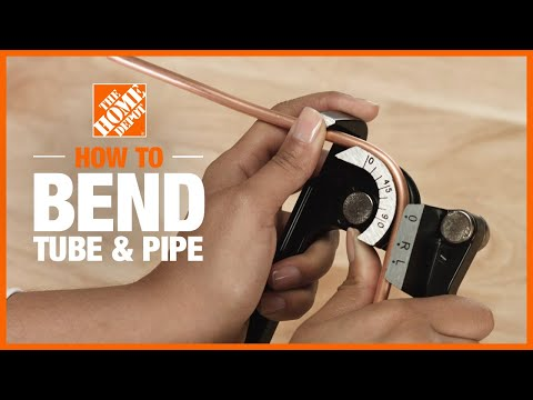 How to Bend Tube and Pipe | DIY Bathroom Renovation Ideas | The Home Depot