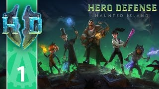 hero Defense Haunted Island - Part 1 - First look & Review ?  - Let's play / Review