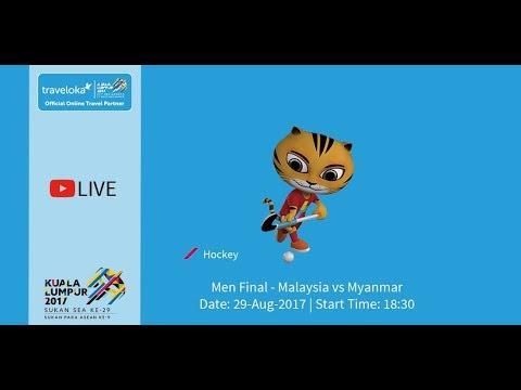 Live from National Hockey Stadium, Bukit Jalil. Men's Team Final, Malaysia Vs Myanmar.