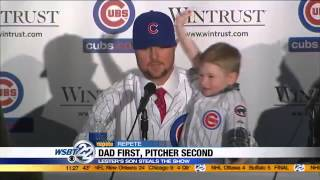 Chicago Cubs introduce Jon Lester to the team
