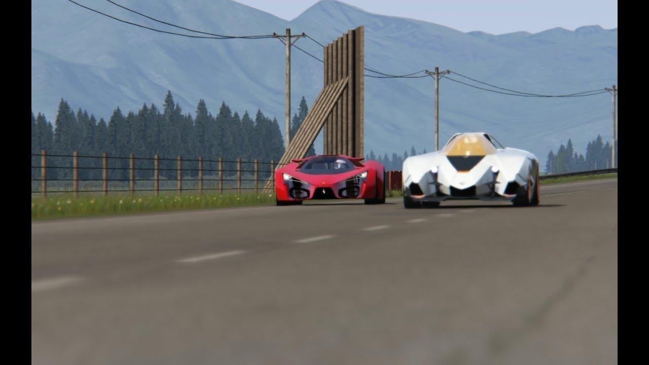 Lamborghini Egoista Concept Vs Ferrari F80 Concept At Highlands