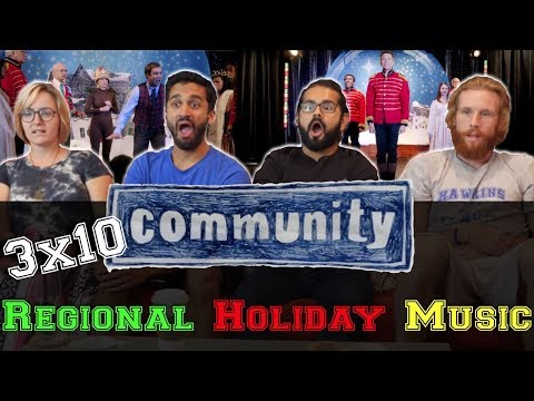 Community - 3x10 Regional Holiday Music - Group Reaction