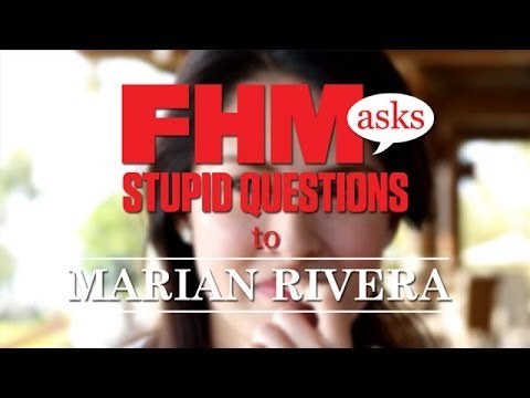 FHM Asks Stupid Question To Marian Rivera!