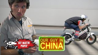 Guy builds his own bike to tour China on | Guy Martin Proper