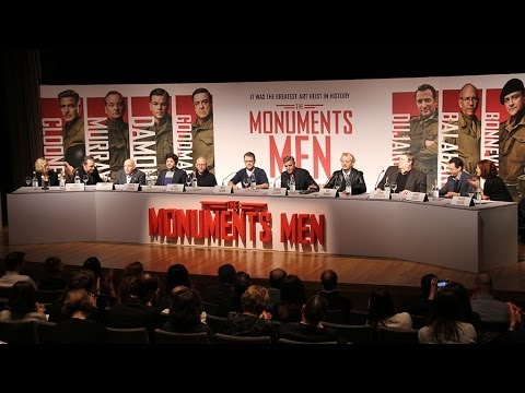 The Monuments Men Press Conference in Full - George Clooney,