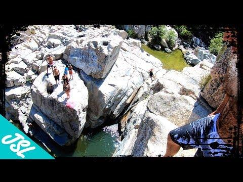 Deep Creek Cliff Jumping - Aztec Falls and The Narrows - San Bernardino National Forest