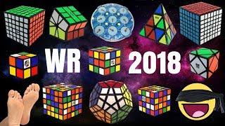 TODOS los RÉCORDS MUNDIALES del CUBO DE RUBIK 2018