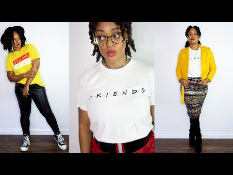 How To Wear Graphic T Shirts Haul | Get Dressed With Me