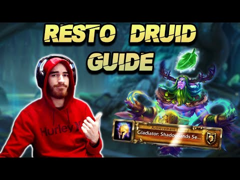 SHADOWLANDS RESTO DRUID PVP GUIDE!!! -- MULTI RANK 1 HEALER SHOWS YOU HOW TO GET GLADIATOR :D