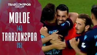 Molde (4) 1-1 (5) Trabzonspor ÖZET (UEFA Konferans Ligi 3. Ön Eleme Turu Rövanş Maçı)